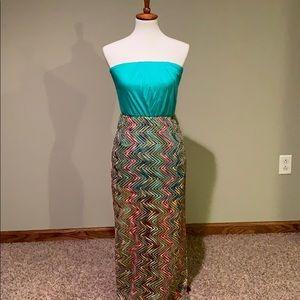 Strapless Beachy Maxi Dress